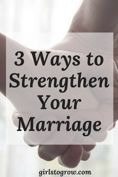 Here are three great ways to build up your marriage.