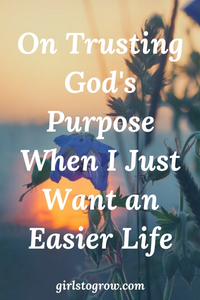Whether it's a person or a situation, God has put that into my life to accomplish His purpose.