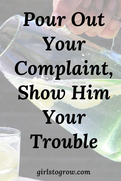 Like David, let's take our troubles to the Lord, rather than complain to other people.