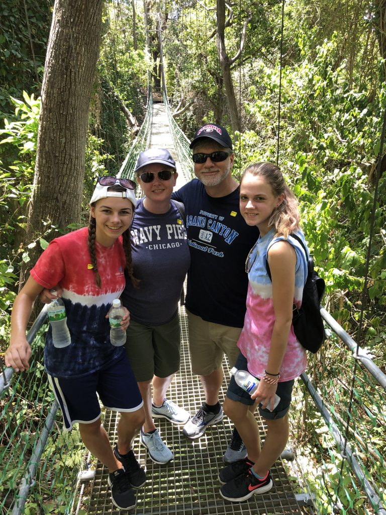 Walking a nature trail in Honduras