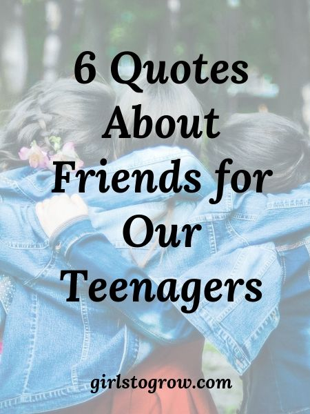 Here's wisdom we can pass along to our teenagers as they evaluate their friendships.