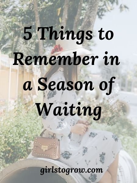 None of us like to wait.  Yet some of God's richest blessings are on the other side of a season of waiting.