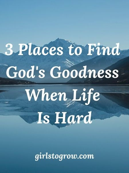 When life is hard, we can still see God's goodness in our lives in these three ways.