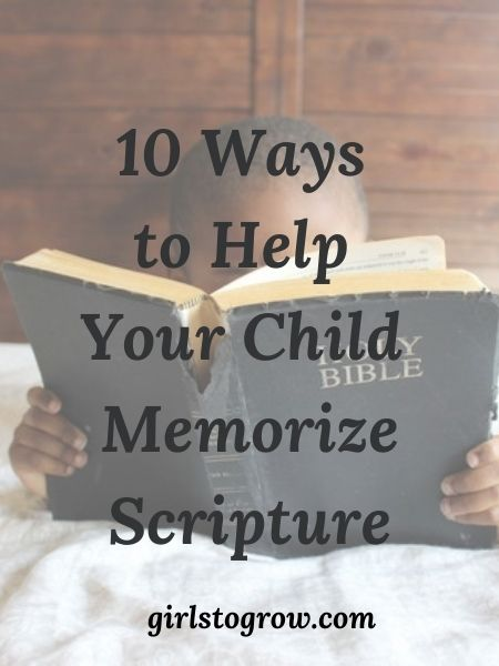 Check out this list of ten tips we can use as we help our children memorize the Bible.