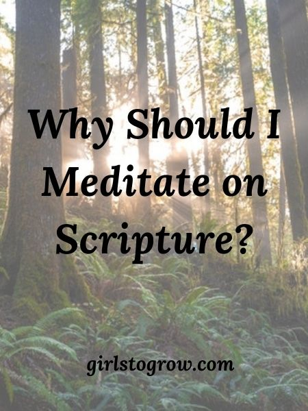 Meditating on God's Word brings many benefits.  Here are five of them.