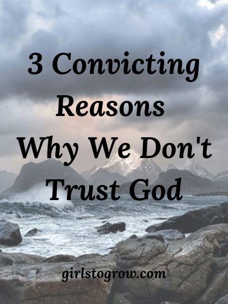 Even though our God is all-wise, we sometimes fail to trust that His way is best.  Here are three possible reasons why.